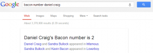 Screenshot Bacon Number Daniel Craig