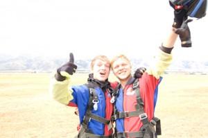 Fallschirmspringen in Neuseeland
