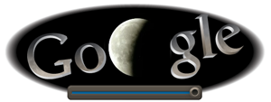 Screenshot: Google Doodle Mondfinsternis um 23.35Uhr