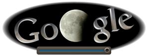Screenshot: Google Doodle Mondfinsternis um 23.50Uhr