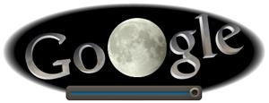 Screenshot: Google Doodle Mondfinsternis um 00.15Uhr