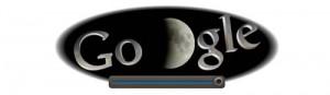 Screenshot: Google Doodle Mondfinsternis um 20.50Uhr