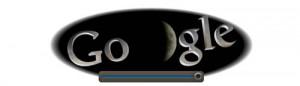Screenshot: Google Doodle Mondfinsternis um 21.10Uhr