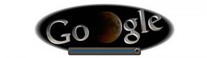 Screenshot: Google Doodle Mondfinsternis um 21.23Uhr