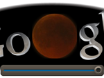 Screenshot: Google Doodle Mondfinsternis um 20.50Uhr