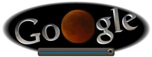 Screenshot: Google Doodle Mondfinsternis um 22.40Uhr