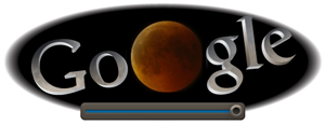 Screenshot: Google Doodle Mondfinsternis um 22.50Uhr