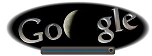 Screenshot: Google Doodle Mondfinsternis um 23.20Uhr