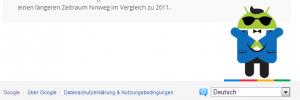 Easteregg Screenshot: Android Maskottchen bei Google Zeitgeist