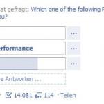 Screenshot Facebook Umfrage Adobe Photoshop