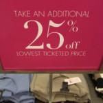 Schild für Sonderangebot im Einzelhandel