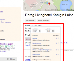 Screenhost Google Knowledge Graph Hotel