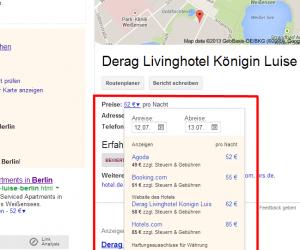 Screenhost Google Knowledge Graph Hotel